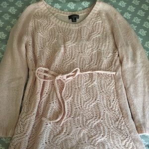 Pink maternity sweater